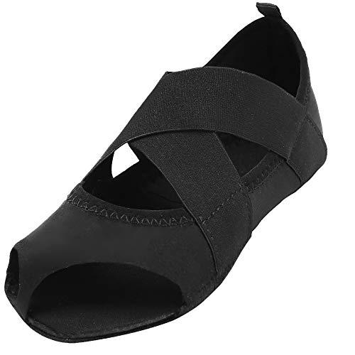 JOINFREE Frauen Klassische Ballet Slipper Barfuß Flat Dance Yoga Schuhe Pures Schwarz EU 37-38