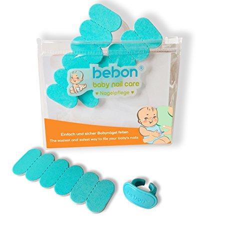 bebon® - Nagelpflege für Babys I Praktisches Babypflege-Set für Neugeborene ab 0 Monate I Geschenkidee für werdende Mütter | 18 Einwegfeilen