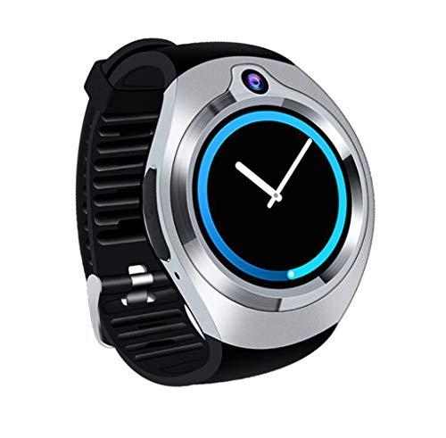Love Life Android Smart Watch, GPS-Outdoor-Sportarmband mit 5 Millionen HD-Kamera, mit Google Voice-Assistent (schwarz),Silver