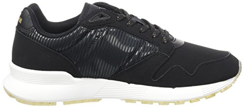 Le Coq Sportif Damen Omega X W Striped Sock Sparkly Trainer Low Schwarz (Black)