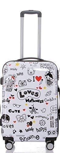 Loves – Valises à Roulettes, rigide, Choix manière Lot de 3 Pièces – XL, L ou M Trolley, 4 roues, XL/Light,, Mehrfarbig (Multicolore) - BEI-V2060-LO