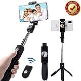 BaoLuo Selfie Stick,Bluetooth Selfie Stick, Stativ,HandyStativ, Erweiterbar Wireless Selfie-Stange Stab 360°Rotation mit Bluetooth-Fernauslöse für iPhone Android Samsung Smartphones