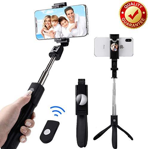 BaoLuo Stativ Smartphone,Selfie Stick,Bluetooth Selfie Stick, HandyStativ, Erweiterbar Wireless Selfie-Stange Stab 360°Rotation mit Bluetooth-Fernauslöse für iPhone Android Samsung Smartphones