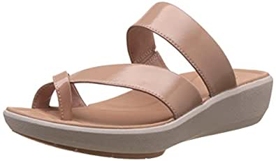 Clarks Women's Wave Bright Dusty Pink Leather Flip-Flops and House Slippers - Flip Flops - Plastic Moulded - 3.5 UK/India (36 EU)