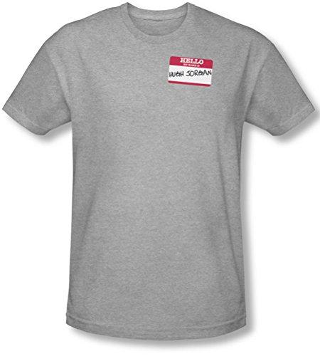 Funny Tees - Männer Hallo Hugh Jorgan Slim Fit T-Shirt, X-Large, Athletic Heather