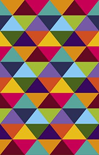 Vilber New Look Rombo Alfombra, Vinilo, Multicolor, 153x200x0.2cm