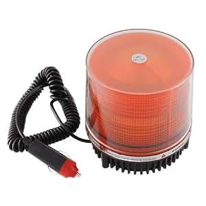 amzdeal® 12V led Xenon gyrophare KFZ de signalisation magnétique orange ambré STROBOSCOPE FLASH CLIGNOTEMENT ETANCHE