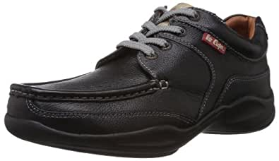 Lee Cooper Men's Black Boat Shoes - 10 UK