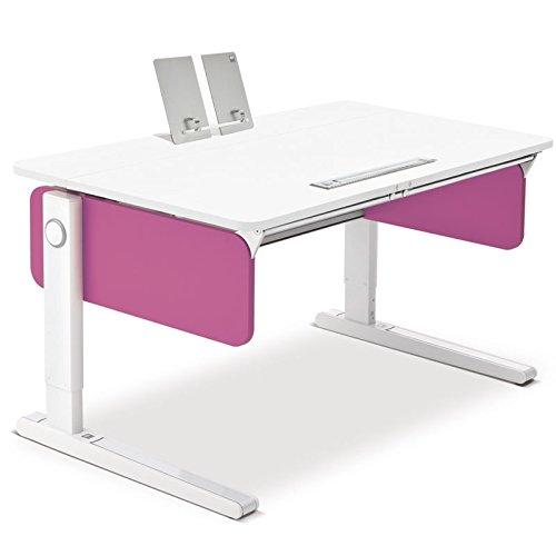 Moll Champion Style Front Up Schreibtisch | pink | 120 x 72 x 53-82 cm (Breite x Tiefe x Höhe) | höhenverstellbar