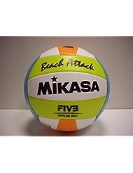 MIKASA BEACH ATTACK Beachvolleyball weiss-gelb-blau-orange - 5