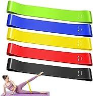 Ealicere Elastici Fitness, Bande di Resistenza Fitness in Tessuto con 5 Livelli di Resistenza,per Esercizi Glu
