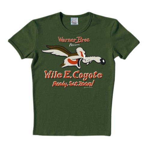 Logoshirt Unisex T-Shirts   - Grün - Olive Foncé - XL (Herstellergröße: (Coyote Kostüme)
