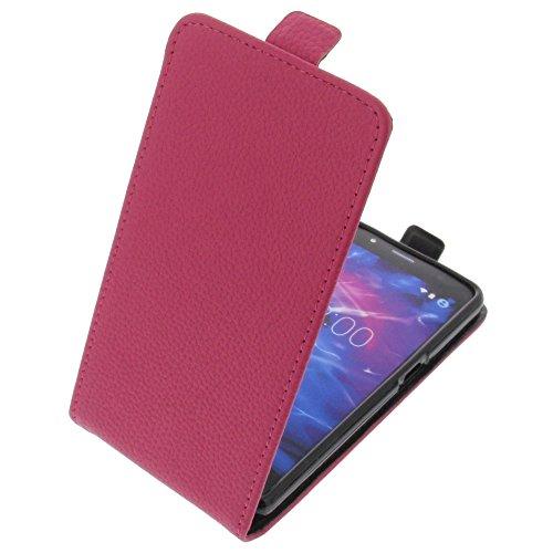 foto-kontor Tasche für MEDION Life S5004 Smartphone Flipstyle Schutz Hülle pink