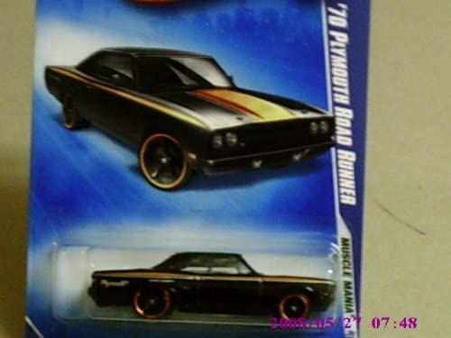 2009 Hot Hot Hot Wheels Muscle Femmeia Black '70 Plymouth Road Runner w/ Black OH5SPs 079 (03 of 10) 3fa910