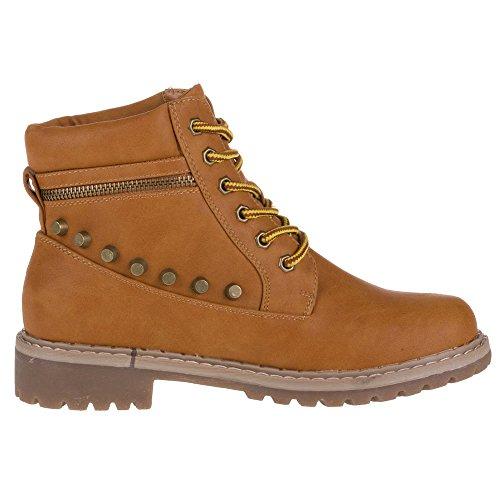 Damen Schuhe, 4VAX-111-DM, STIEFELETTEN Camel 4VAX-111-DM