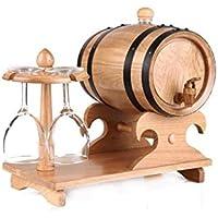 JIUJ Dispensador de Whisky Vintage Oak Wine Barrel - sin Forro, Racks de Mesa con