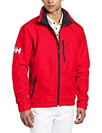 Helly Hansen Crew Midlayer Chaqueta deportiva impermeable, Hombre, Rojo (Red/Off White 162), XL