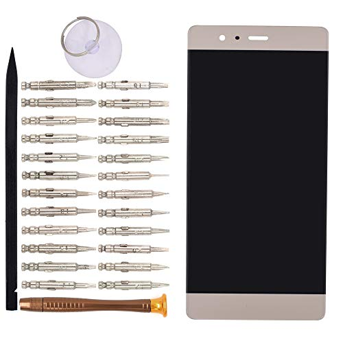 Goodyitou LCD Screen Display Digitizer Touch Panel Without Frame Screen Replacement for Huawei P9 EVA-L09 EVA-L19 EVA-L29(Gold) Touch-screen-lcd-panel