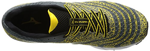 Mizuno Wave Sayonara 2 Synthétique Chaussure de Course Grey-Black-Yellow
