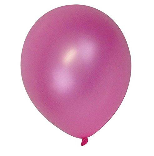 """50 pcs 12 """"(30CM) Ballons Haute Qualité Nacré Métallisé Air ou Hélium Mariage Anniversaire Fête de Noël Décoration Disponible en 14 Couleurs (Violet)"""