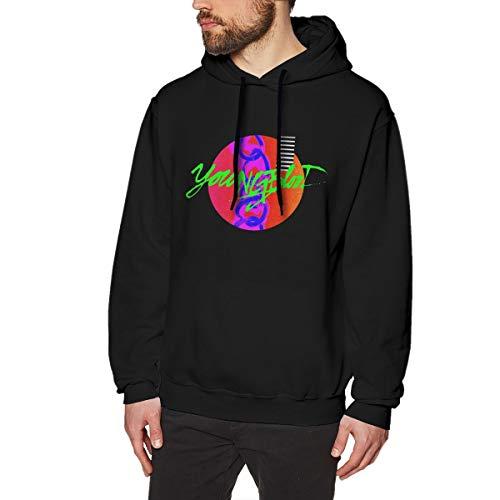 Harrisontdavison Herren Baumwolle Graphic Hoody Nobel Youngblood Black Langärmliges Sweatshirt S -