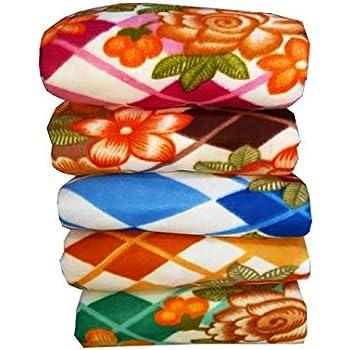 VYBBA Fleece Single Bed Blanket, 55x88 inch Multi Color - Set of 5