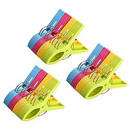 URAQT Mollette in Plastica Grandi in Colori Brillanti, Clip di Vestiti Antivento Pioli Supporti per Telo Mare, Trapunta, Tappeto
