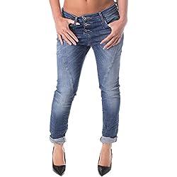 Please Jeans Femme Boyfriend Ample Baggy Faible RIDÉE P78 P78ABQ2E02 m Denim