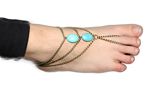 SaySure - All hand bead natural stone anklets Even