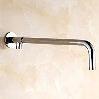 Aothpher 43cm Wall Mounted Stainless steel Shower arms For Fixed Shower Heads with Copper Holder(stainless_steel, 43cm)