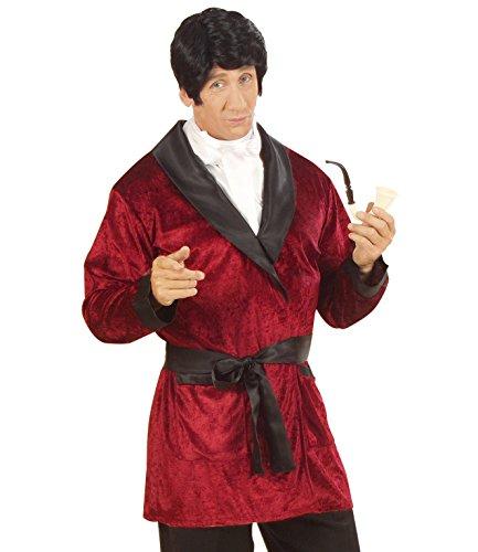 Widmann Kostüme Casanova Mantel aus Samt rot oder blau Farbe wählbar (rot, L)