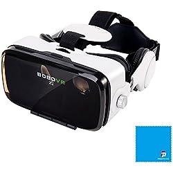 BOBOVR Z4 Xiaozhai Z4 3D VR 3D gafas de visión 120 ° FOV 3d VR Virtual Reality auricular 3d Movie Video Game Privado Theater con auriculares para iPhone 6/6 Plus iPhone 7/6S Plus Samsung S8 / S8 Plus Samsung Galaxy 4.0~6.0 pulgadas IOS Android Smartphon