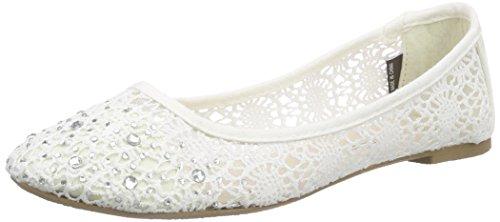 Jane Klain 221 860 Damen Geschlossene Ballerinas Weiß (White 109)