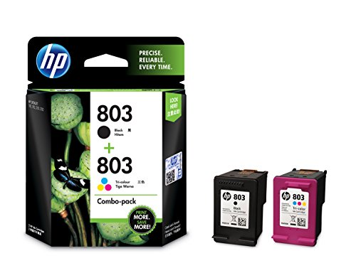 HP 803 Combo-pack Black & Tri-color Ink Cartridges (X4E76AA) For Rs. 1,499