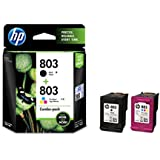 HP 803 Combo-Pack Black & Tri-Color Ink Cartridges (X4E76AA)
