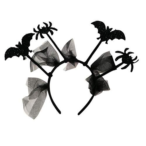 Toyvian Halloween Stirnband Spider Bat Kopfschmuck für Halloween Cosplay Party Zubehör 2St