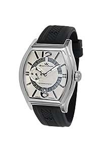 Yonger & Bresson - YBH 8342-02 - Chenonceau - Montre Homme - Automatique Analogique - Cadran Argent - Bracelet Silicone Noir