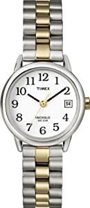 Timex Women's Quartz Watch with White Dial Analogue Display and Multi-Colour Stainless Steel Bracelet T2N173