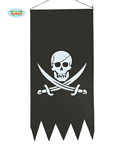 ufhängen Halloween Piraten Banner Fahne Wimpel schwarz Totenkopf ca. 43 x 86 cm (Piraten Halloween)