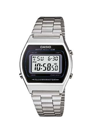 Casio Unisex-Armbanduhr Digital Quarz Edelstahl B640WD-1AVEF