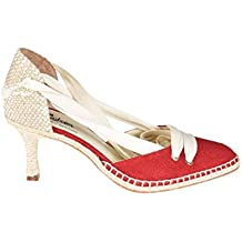 CASTANER X MANOLO BLAHNIK Mujer 058503 Rojo Algodon Zapatos Altos