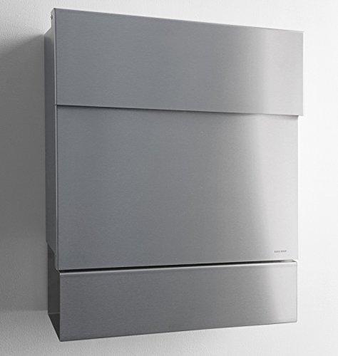 Radius - Briefkasten - Letterman V - mit Zeitungsfach - Edelstahl - 40 x 47,5 x 11,5 cm