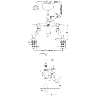 Hudson Reed bc304dl topacio para bañera y ducha mezclador–cromado