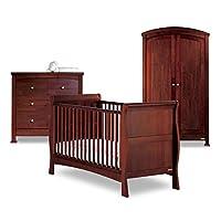 Izziwotnot Bailey Nursery Furniture Set (3-Piece, Mahogany)