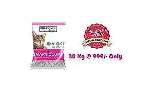 PetCrux™ Exclusive Scoopable Smart Bentonite Cat Litter, 20 Kg