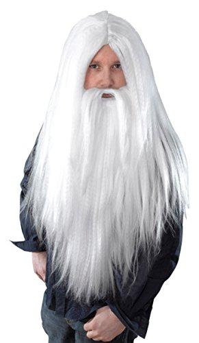 0Zauberer Perücke und langer Bart, Einheitsgröße (Kostüme Ideen Mit Bart)