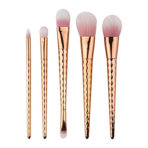 TOPBeauty 5PCS Make Up Foundation Sourcils Eyeliner Blush Cosmetic Concealer Brosses de maquillage professionnel Brush Set