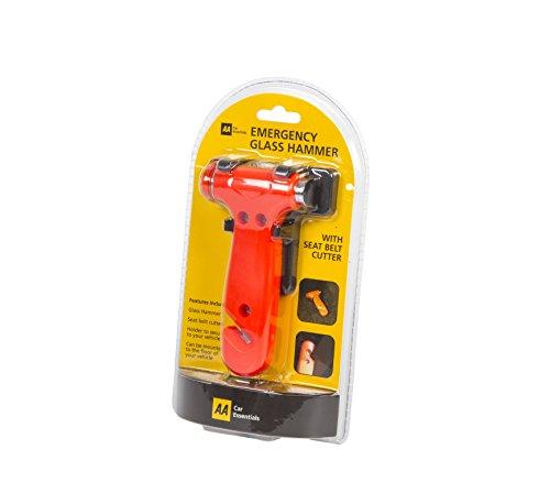 AA Notfallhammer mit Gurtschneider zum Einschlagen der Windschutzscheiben des Autos