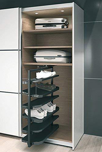 GedoTec Extraible mueble zapatos Extensión de armario Soporte para zapatos Almacenaje de zapatos 180°...