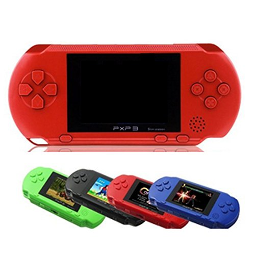 Polade 2.7inch LCD Rechargeable Game Console Retro Megadrive 16 Bit 150+ Games (red)